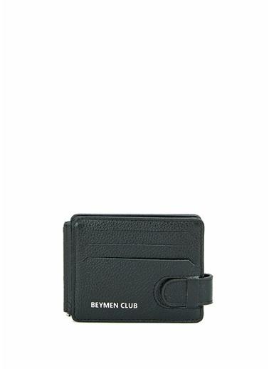 Beymen Club Beymen Club  Logolu Para Tutacaklı Erkek Deri Cüzdan 101624202 Siyah